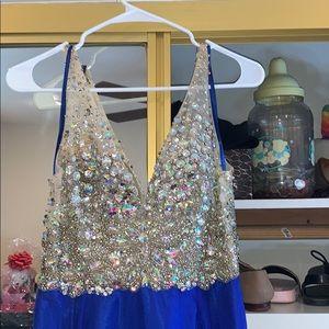 A gorgeous blue dress